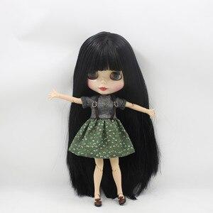 Image 2 - Buzlu çıplak fabrika Blyth Doll serisi No.BL9601 siyah saç beyaz cilt 1/6 ortak vücut Neo