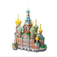 3d puzzle mc148h la chiesa cattedrale del salvatore sul sangue (russia) building diy costruzione di modello di carta