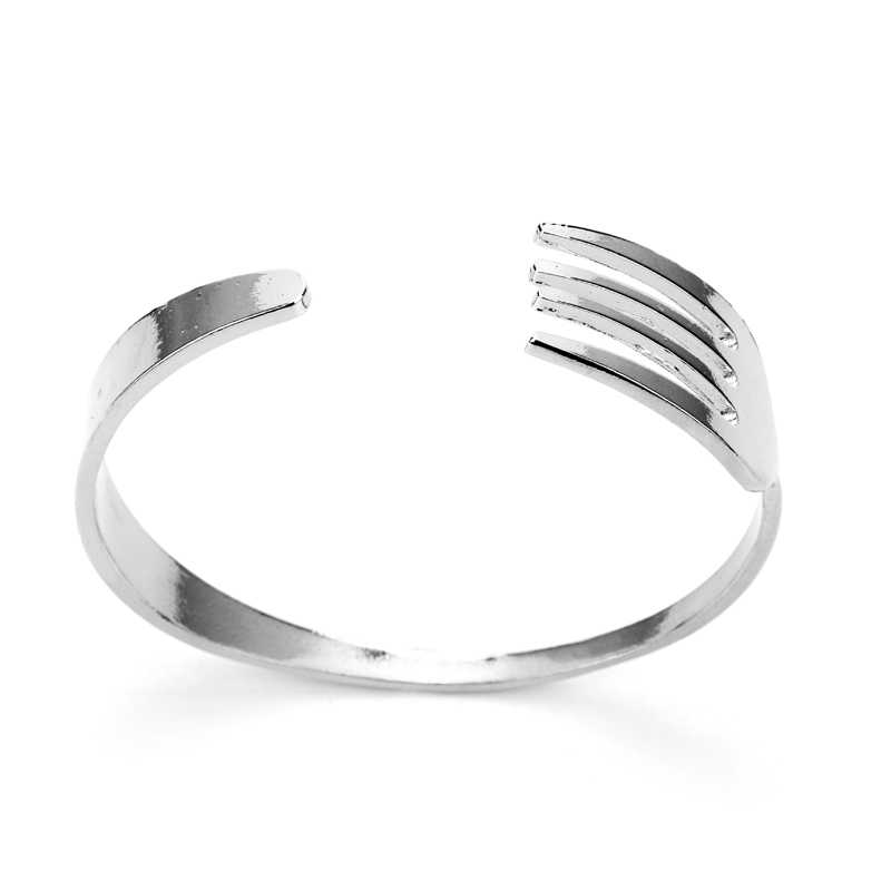 THE GOLD OF COOKING Open Bracelet Jewelry For Men Fox Tool Shape Stainless Steel Cuff Bracelet Wristband For Male