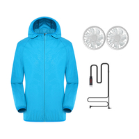 Men/Women Air Conditioned Jacket with 2 Fans USB Charging Anti UV Clothing for Welding Camping High Temperature Outdoor Work