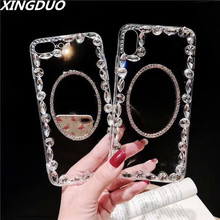 XINGDUO case for HUAWEI P20 PRO Lite Crystal transparent shell Glitter Makeup Mirror mate 20 PRO/P30 pro/honor 8x 10