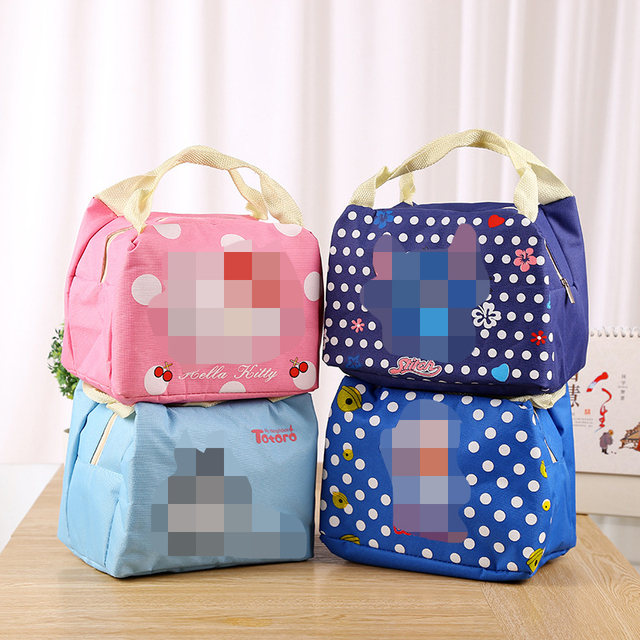 3d8e0e1b9f1b 2017 new Portable Cartoon Cute Hello Kitty Lunch Bag Insulated Cold Canvas  Picnic Totes Carry Case For Kids Women Thermal Bag