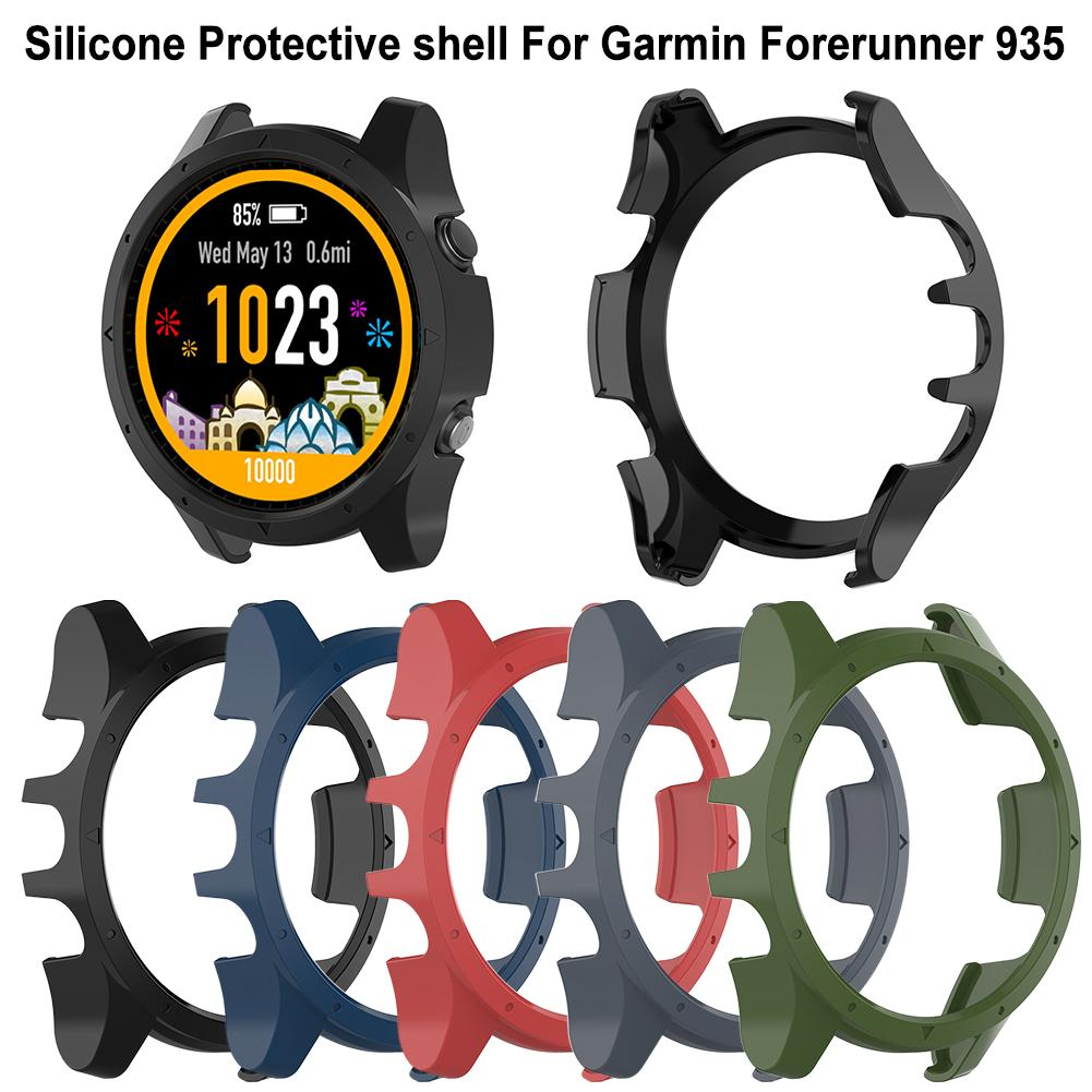 Silicone Protector Shell For Garmin Forerunner 935 Case Cover Shell Protective Shell Anti-dust Smart Watch Accessories 5 Colors