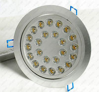 24W LED Recessed Ceiling Down Spot Light Store Office Lighting Energy Saving NEW