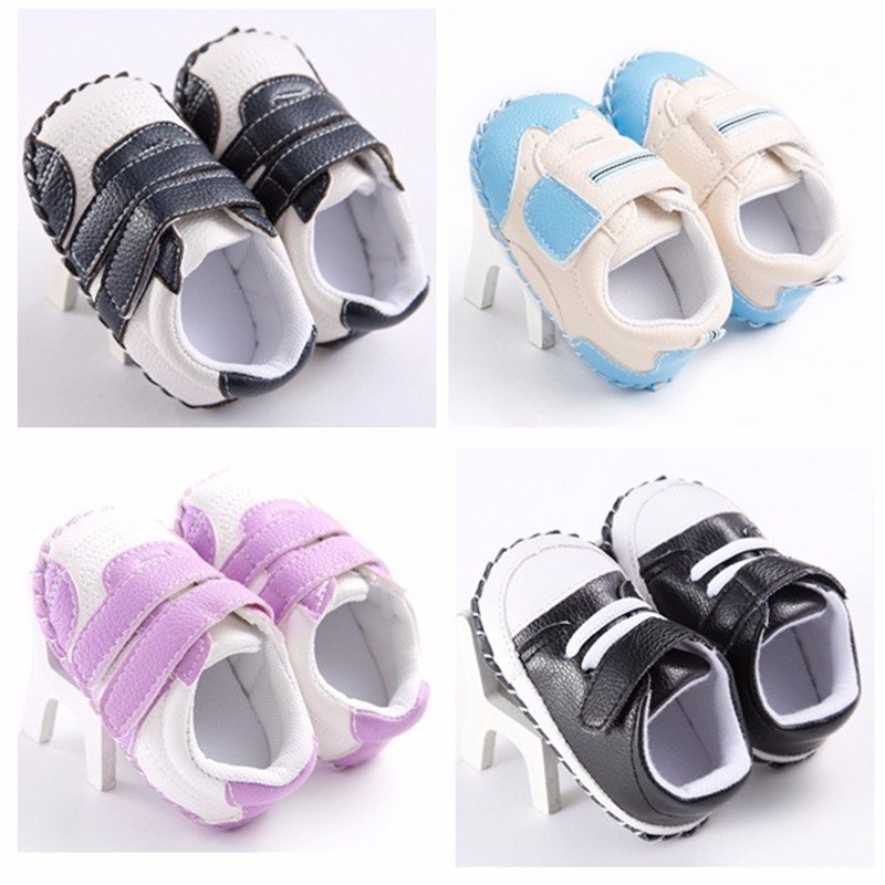 Hot sell New arrival Casual Pu leather First walker Girls Boys shoes Newborn Baby Moccasins infant Rubber sole Prewalker shoes