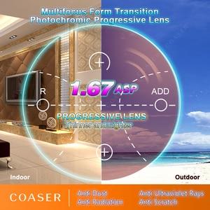 Image 4 - نموذج مجاني متعدد البؤر 1.67 عدسات تقدمية تحويل النظارات اللونية وصفة طبية نظارات قراءة بصرية