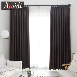 Modern blackout curtains for Living room Bedroom Window Solid color cloth Curtains Ready Made finished drapes Blinds Custom made