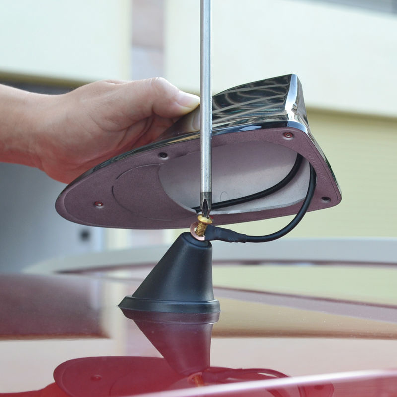 Car With Blank Radio Shark Fin Antenna Signal Shark Fin With 3m Adhesive For Opel Astra Gtc In