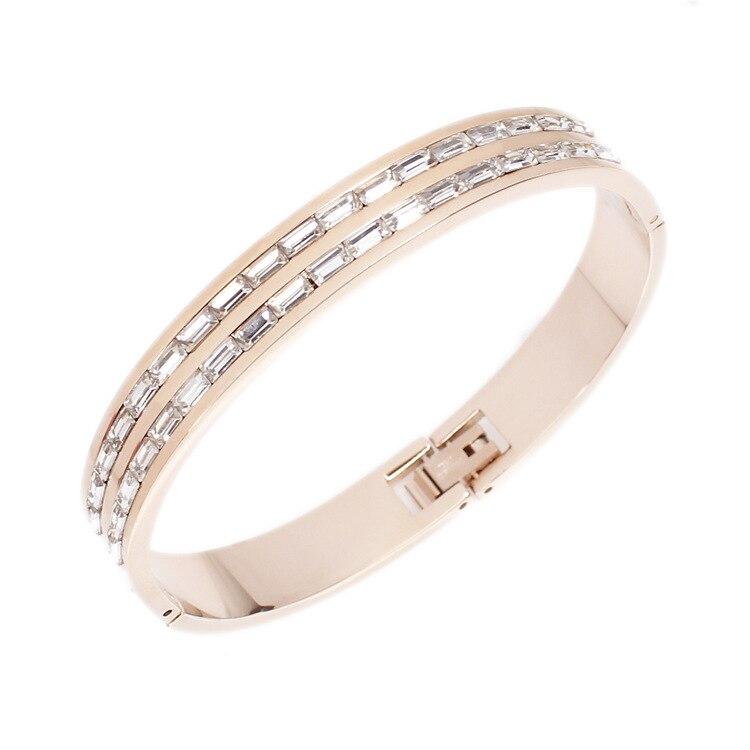 font b Fashion b font font b jewelry b font bracelet Rose gold titanium steel
