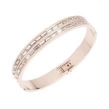 Fashion jewelry bracelet Rose gold titanium steel bracelet Ladies accessories Titanium steel accessories Lovers gift