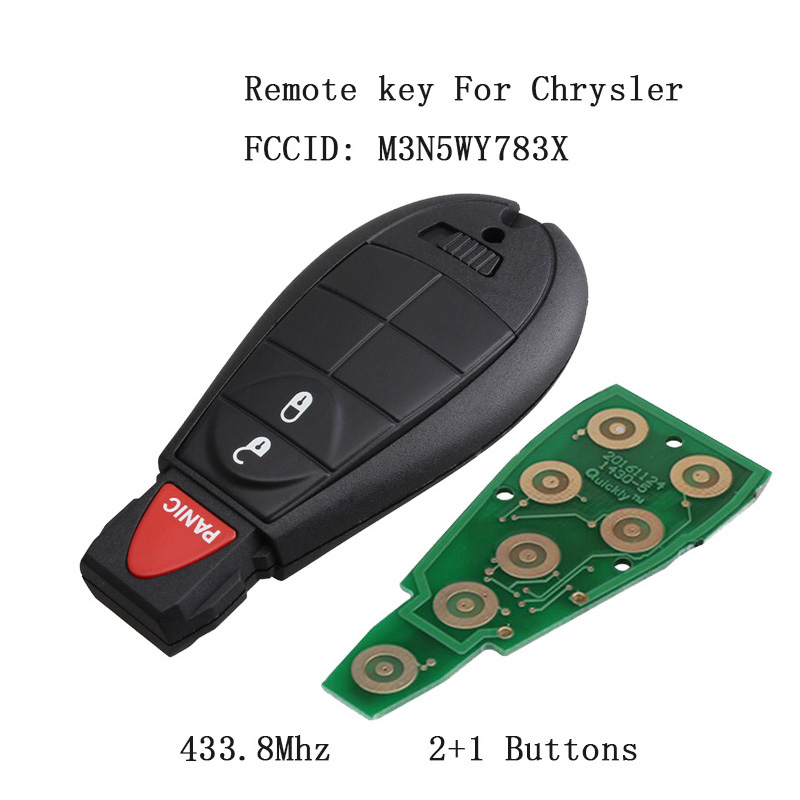 Juse a Case KAWIHEN Keyless Entry Remote Key Fob Replacement For Dodge Durango Grand Caravan Journey Charger Ram Truck 1500 2500 3500 key fob case FCC ID IYZC01C GQ4-53T M3N5WY783X