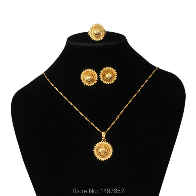 New Vintage Ethiopian wedding jewelry sets Gold Filled Jewelry