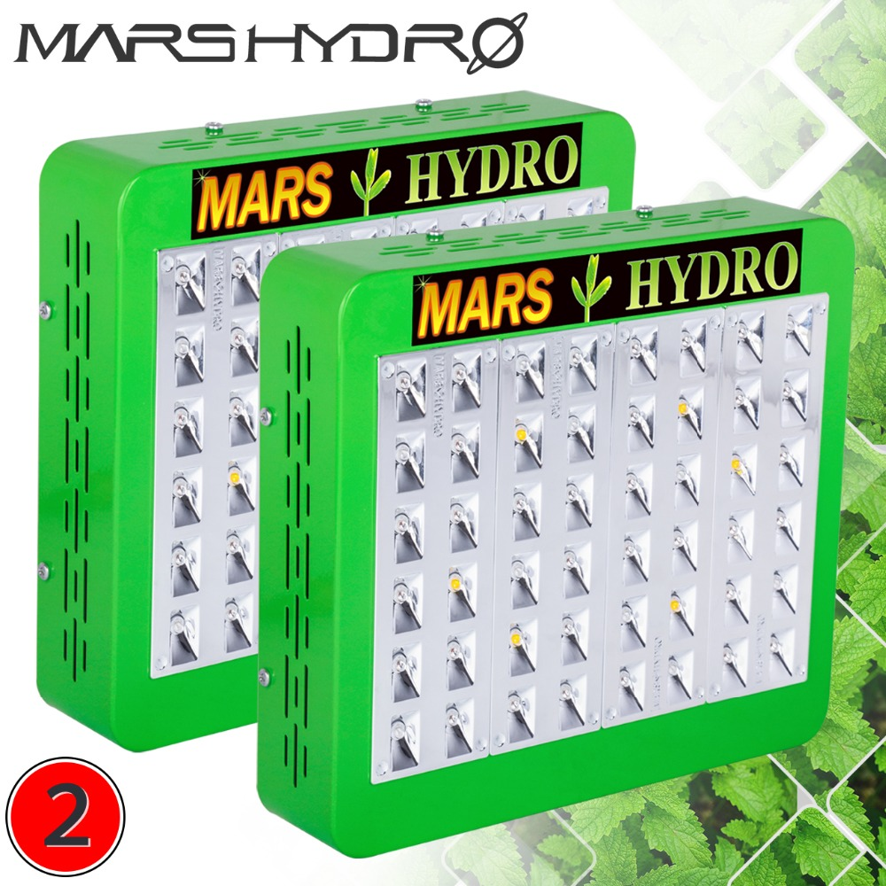 2pcs Mars Hydro LED Grow Light Reflector 240W Full Spectrum Switches+Reflector Design With IR Indoor Plants Panel No Stock in RU