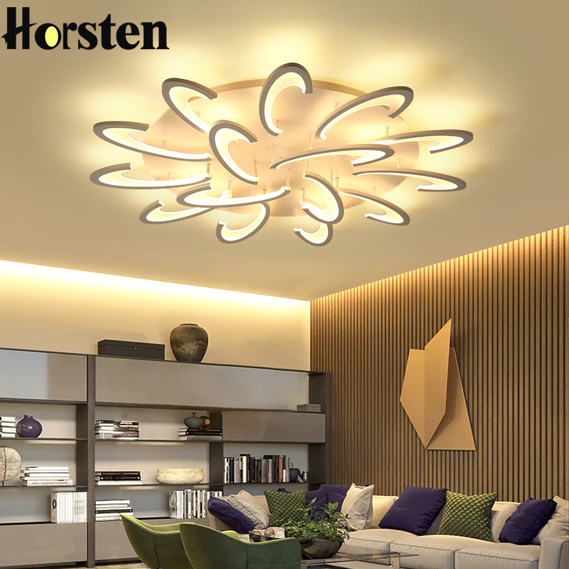 White Body Remote Led Chandeliers For Living Room Acrylic Lampara De Techo Modern Chandelier Lamp Indoor Home Fixture LightingWhite Body Remote Led Chandeliers For Living Room Acrylic Lampara De Techo Modern Chandelier Lamp Indoor Home Fixture Lighting