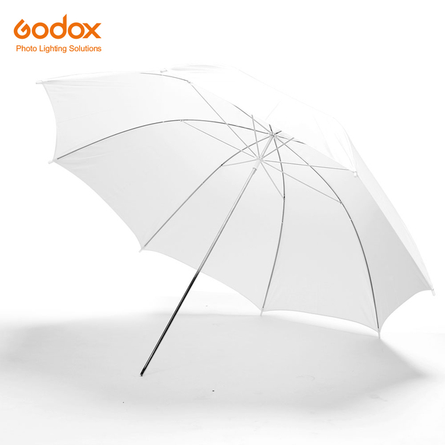 "Godox professional 43 ""108 cm 흰색 반투명 소프트 우산 사진 스튜디오 플래시 라이트"