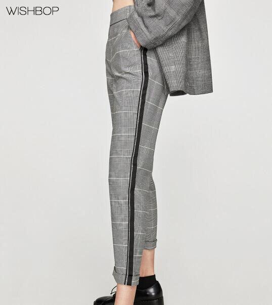 Wishbop nouveau 2017 femme gris marne v rifi chino pantalon avec c t bande lastique ceinture - Pantalon bande laterale homme ...