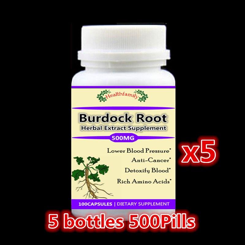 Natural Burdock Root PE. Detoxify blood Anti Cancer Rich Amino Acids,anti-mutation,high quality free shipping - 5 bottles 100 natural piper methysticumkava root