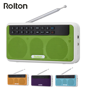 Rolton E500 Wireless Bluetooth Speaker 6W HiFi Stereo Music Player Portable Digital FM Radio Flashlight Mic Hands-free Record TF