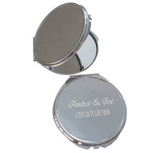 50Piece Personalized Party Gift Souvenirs,Small Cosmetic Mirror Mini,Customized Wedding Favor For Guests,Engrave Name & Date