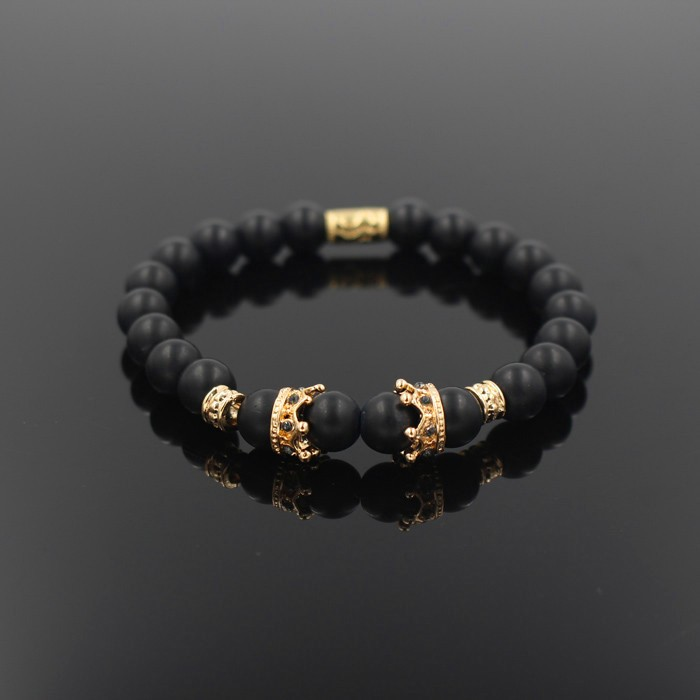 gold-imperial-crown-with-natural-stone-black-bracelet-1