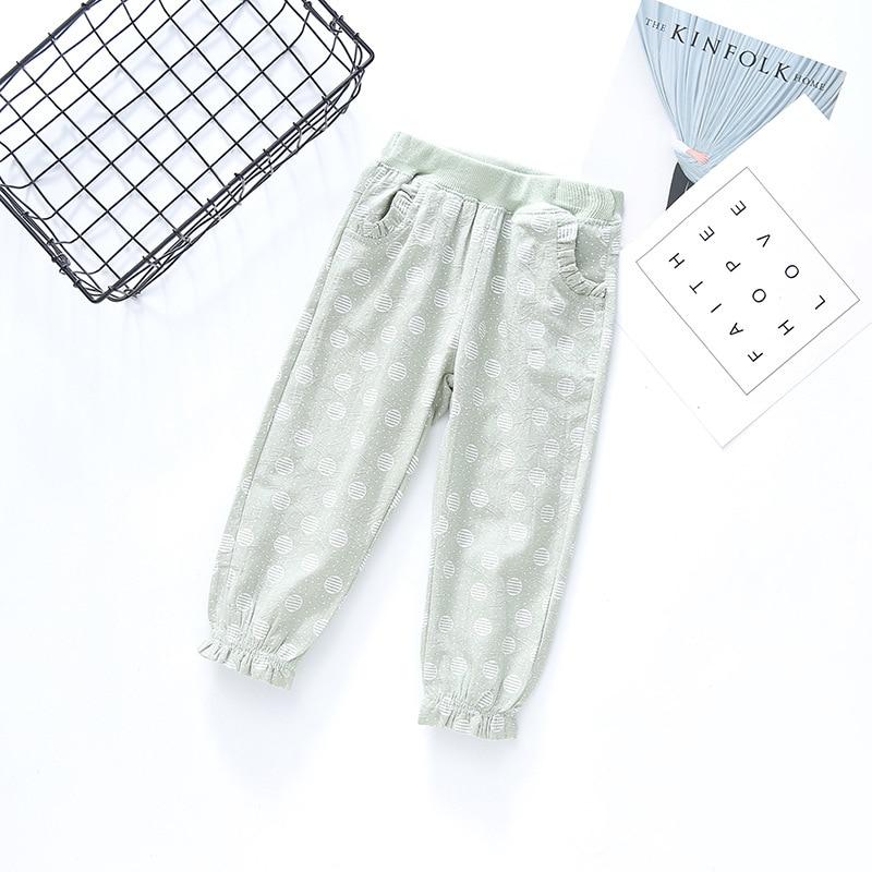Dziecięce spodnie Cienki przekrój Dziewczyny Koronkowe kieszenie - Ubrania dziecięce - Zdjęcie 2