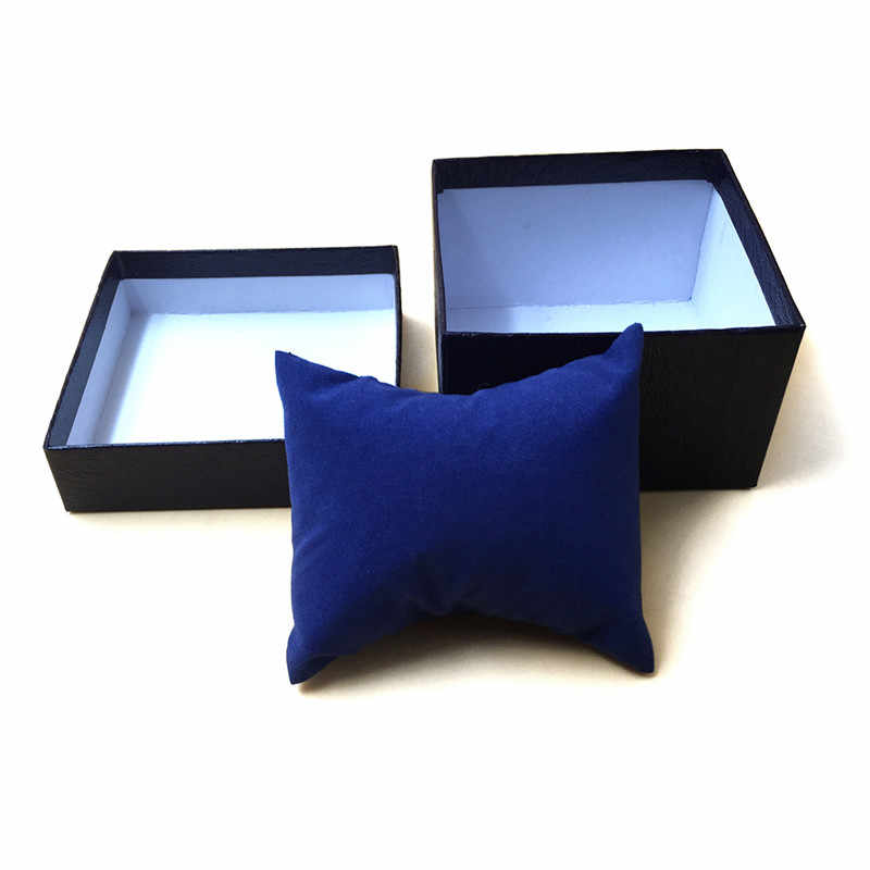 صندوق ساعة فاخر من 3 ألوان من الجلد مجوهرات ساعات يد حامل صندوق عرض للتخزين علبة منظم هدية