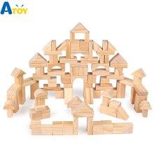 100 шт. деревянные строительные блоки для детей раннего обучения Развивающие игрушки для обучения развивающая игрушка для детей собранная головоломка