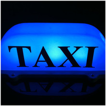 Taxi Top Light/New Blue LED Roof Taxi Sign 12V with Magnetic Base, Taxi dome light blue top selling цена 2017
