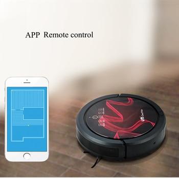 APP WIFI control remoto 110V US plug aspirador robótico con limpiando fuerte sunction onda ultrasónica técnica Li- de la batería