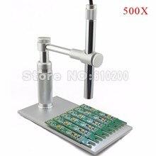 Promo offer 500X Zoom 2MP 8LED USB Digital Microscope Endoscope USB magnifier Camera + Aluminium alloy HOLDER FOR pcb inspection