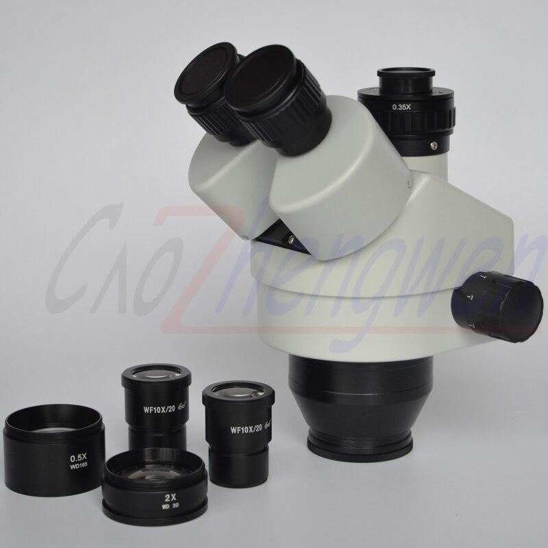 FYSCOPE NEW ARRIVE 3.5X 90X Simul Focal Trinocular Zoom Stereo Microscope Head + 0.35 C MOUNT|Microscopes| |  - title=