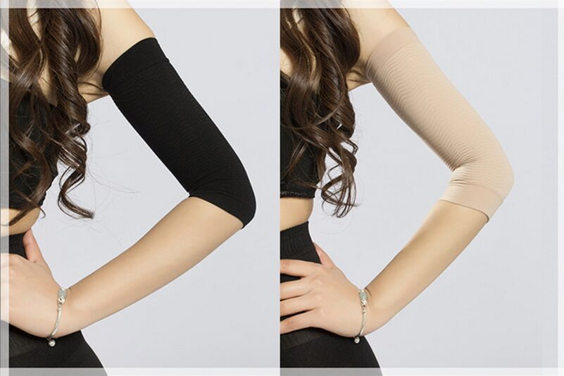 Waist Corsets Thin Arm Grain Type Sets Pressure Fat Burning Stovepipe Socks Series Beam Arm Shapers