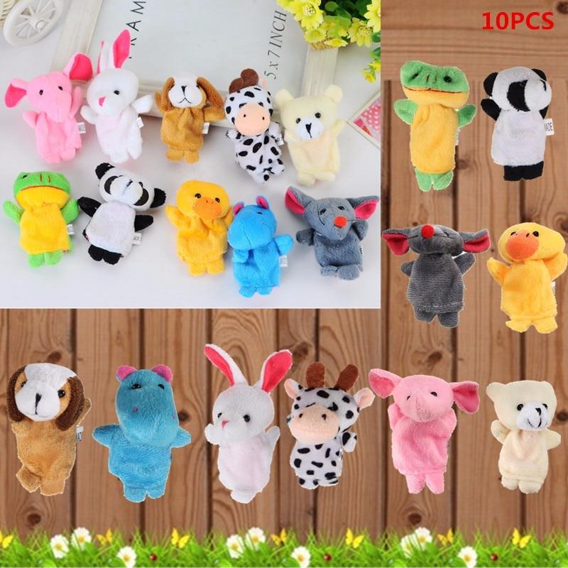 10PCS Fingertip Animal Toys Fingerpuppen Fingertiere Handkasperletheater Puppets