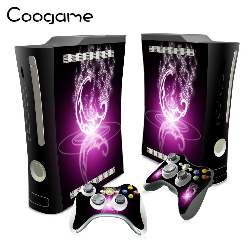 Cute Vinyl Stickers For Microsoft Xbox 360 Fat Conslole Waterproof Skins For Xbox 360Fat PVC Decal Accessories