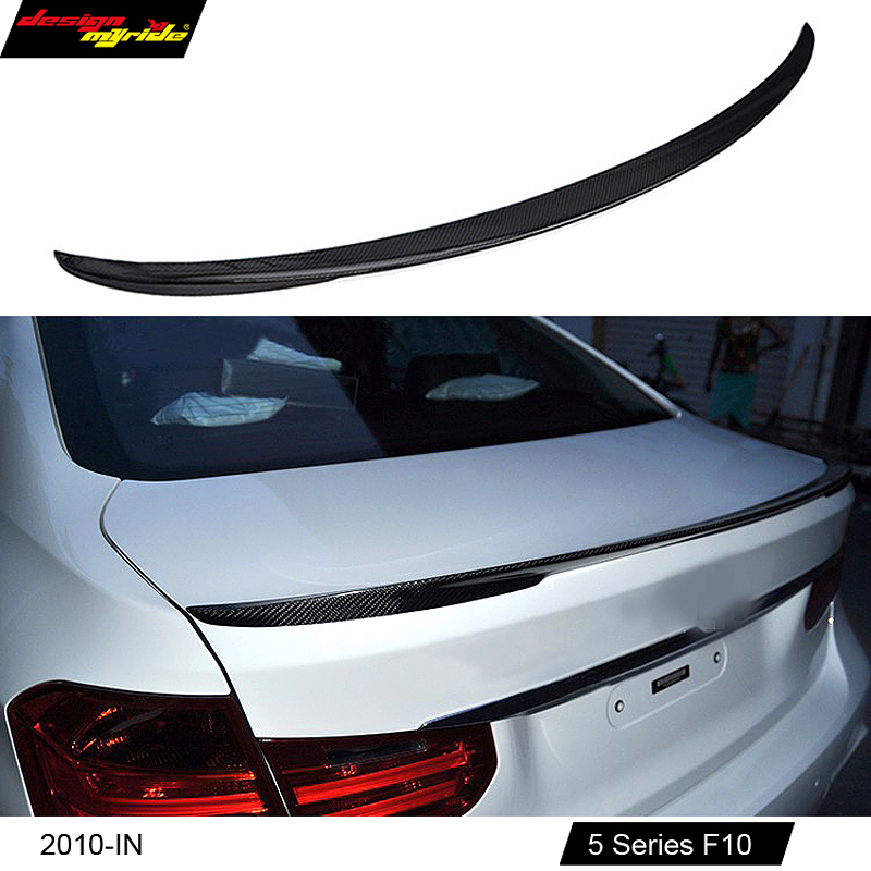 2010 - 2016 M performance style F10 carbon fiber rear trunk spoiler for BMW 5 series 518d 520i 525d 530i 535i 550i car styling стоимость