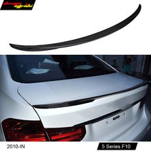 F10 хвост спойлер M Стиль углеродного волокна для BMW 5 серии 520i 528i 530i 535i 550i задний спойлер крыла хвост V-Стиль украшения 10-16