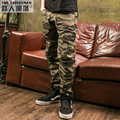 Men's Fashion Camouflage Jogger Pants Multi-pocket Baggy Pants Teenagers Skateboard Zipper Long Trousers