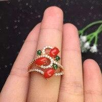 In vendita sconto ragazze regalo regalo di compleanno mamma reale argento sterling 925 natural corallo rosso anello uovo surfce 5*5mm