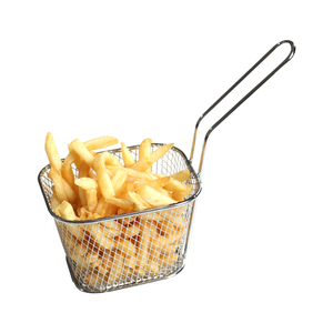 Image 3 - Portable Stainless Steel Chips Mini Frying Basket Strainer Fryer Kitchen Cooking Chef Basket Colander Tool French Fries Basket