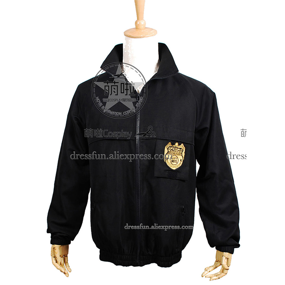 NCIS Cosplay Black Staff Jacket Costume New Cool Coat Uniform Outfits Suit Halloween Fashion Party Fast Shipping