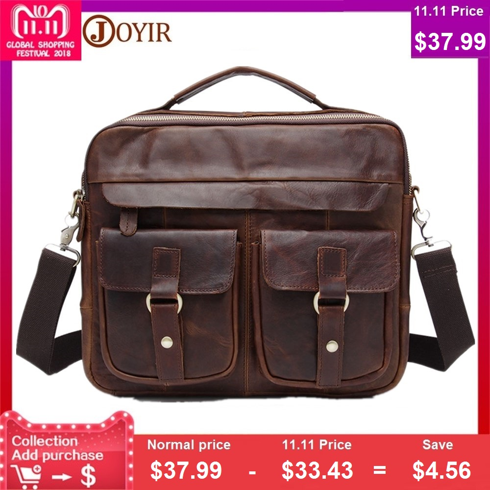 100% Genuine Leather Men Bags Crazy Horse Leather Handbags Business Laptop Bag Shoulder Bags Tote Briefcase Messenger Bags mva genuine leather men bag business briefcase messenger handbags men crossbody bags men s travel laptop bag shoulder tote bags