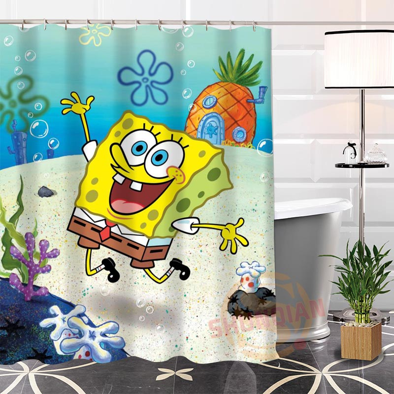 Marvelous Hot New Spongebob Modern Shower Curtain Eco Friendly Custom Unique Bathroom  With Hooks Bath Screens For Kids In Shower Curtains From Home U0026 Garden On  ...