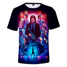 New The Film 3D John Wick Men/Women t shirt Fashion Cool 3 Print tshirt Leisure Hot Summer Black Wild Short sleeve Top