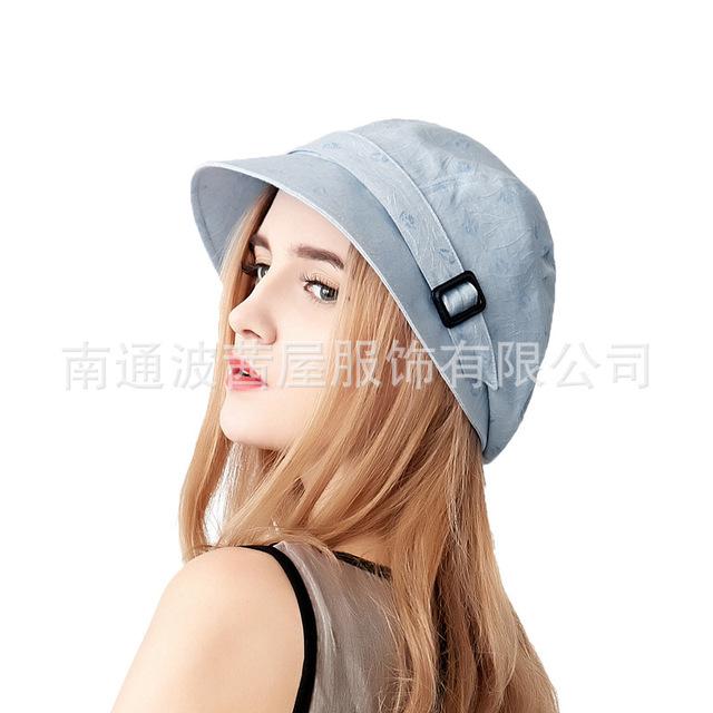 2016 Nueva señora fedora sombrero de sol mujeres primavera casquillo del sol anti-ultravioleta femenino sombrero niñas ocio Boina Casquillo Del Visera B-2524