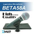 Free Shipping! High Quality Version Beta 58a Vocal Karaoke Handheld Dynamic Wired Microphone BETA58 Microfone Mike Beta 58 A Mic