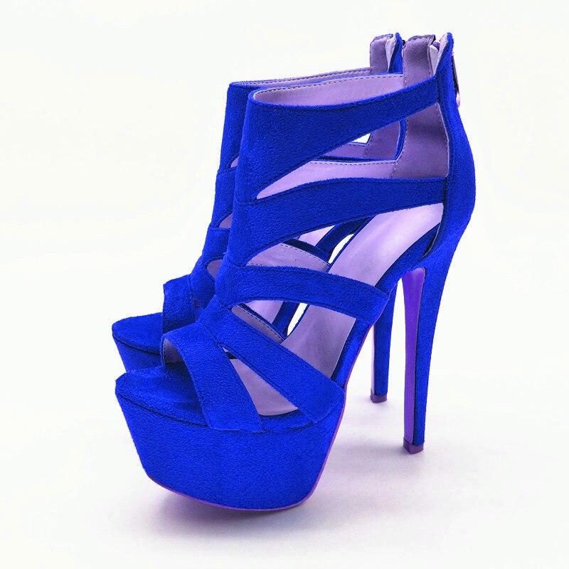 Talons Super oi0441 4 Sexy Toe Peep Initiale Noir Plate Mince forme Femmes Black Taille Us Oi0441 Bleu L'intention Blue Haute 10 5 Chaussures Nouveau Femme Sandales EqYScwH