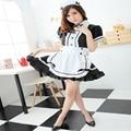 Anime Akihabara Clásico Blanco y Negro Criada Cosplay Disfraces Mujeres Vestido de Uniforme de Sirvienta