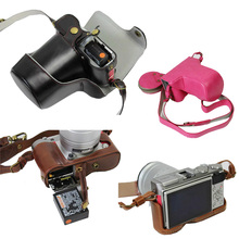 New Luxury PU Leather Video camera case bag for Fujifilm fuji XA10 XA10 digital camera with strap Open battery