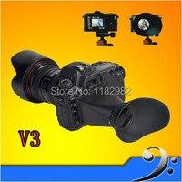 2pcs V3 LCD Viewfinder 2.8x Magnifier Extender Magnetic Hood for Can@n 600D 60D
