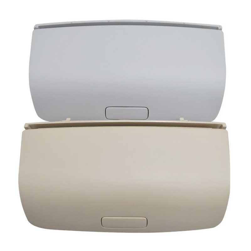 Mobil Sun Glasses Case Kacamata Penyimpanan Kotak Pemegang untuk VW Tiguan Golf Jetta Passat CC Scirocco 2009 2010 2011 Beige /Abu-abu